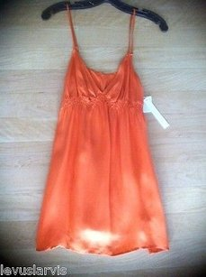 Twelfth St. by Cynthia Vincent Street Coral Silk Empire Cami Top Oranges