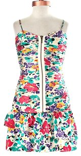 Twelfth St. by Cynthia Vincent short dress Multicolor Floral Silk Bodycon on Tradesy