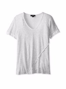 Twenty Heather Super Soft V Neck Short Sleeve Tee 210684f T Shirt Grey