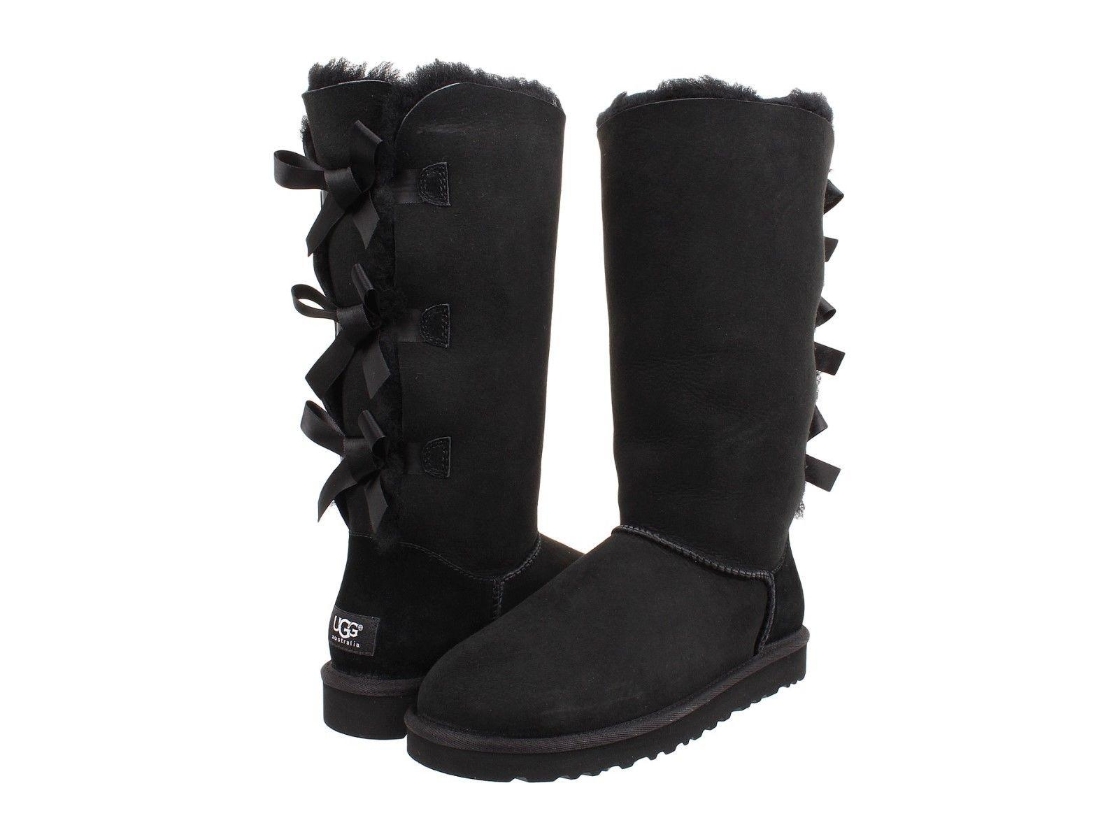 knee high ugg boots with bow