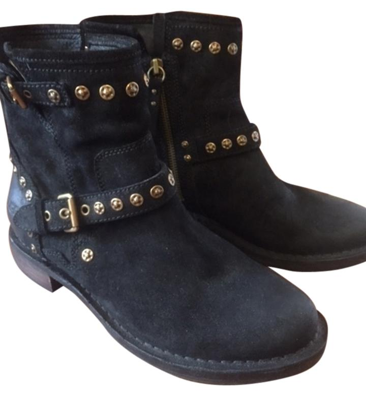 UGG Australia Leather Black Suede Boots ...