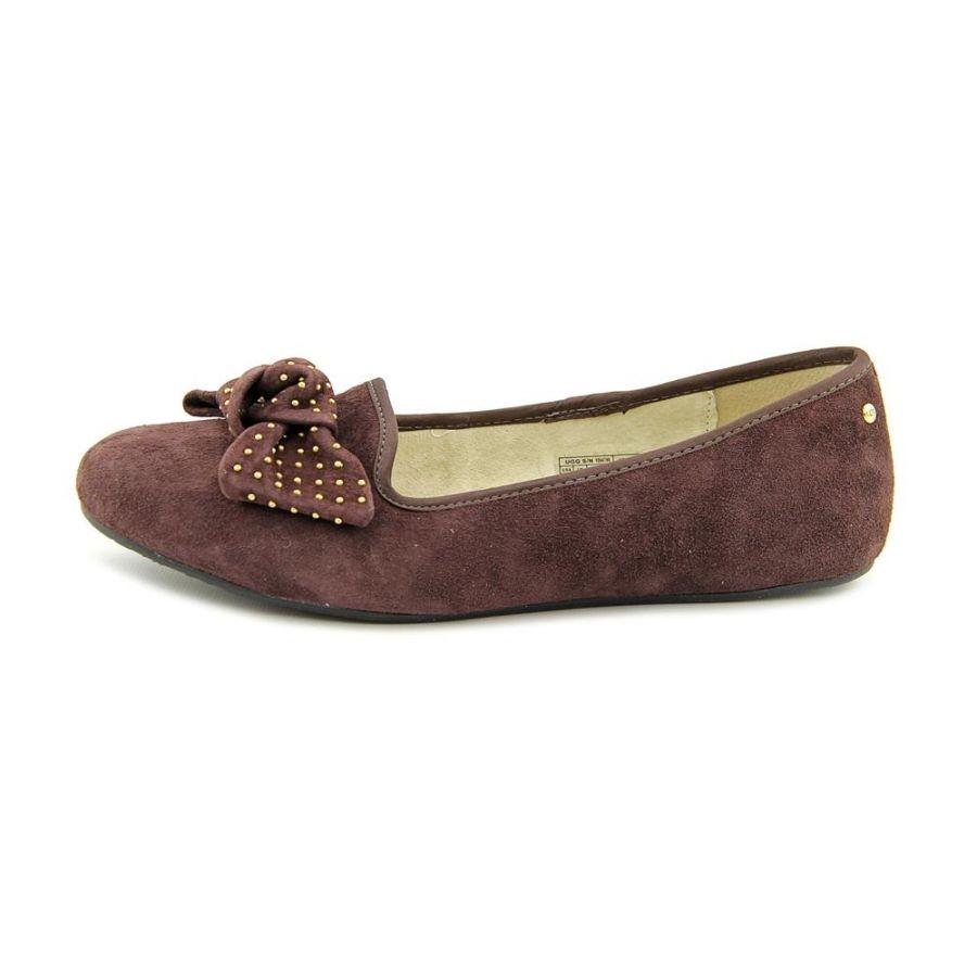 UGG Australia Suede Studded Bow Winter Brown Flats ...