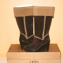 UGG Australia Aubrie Suede Tall Womens Brown Boots