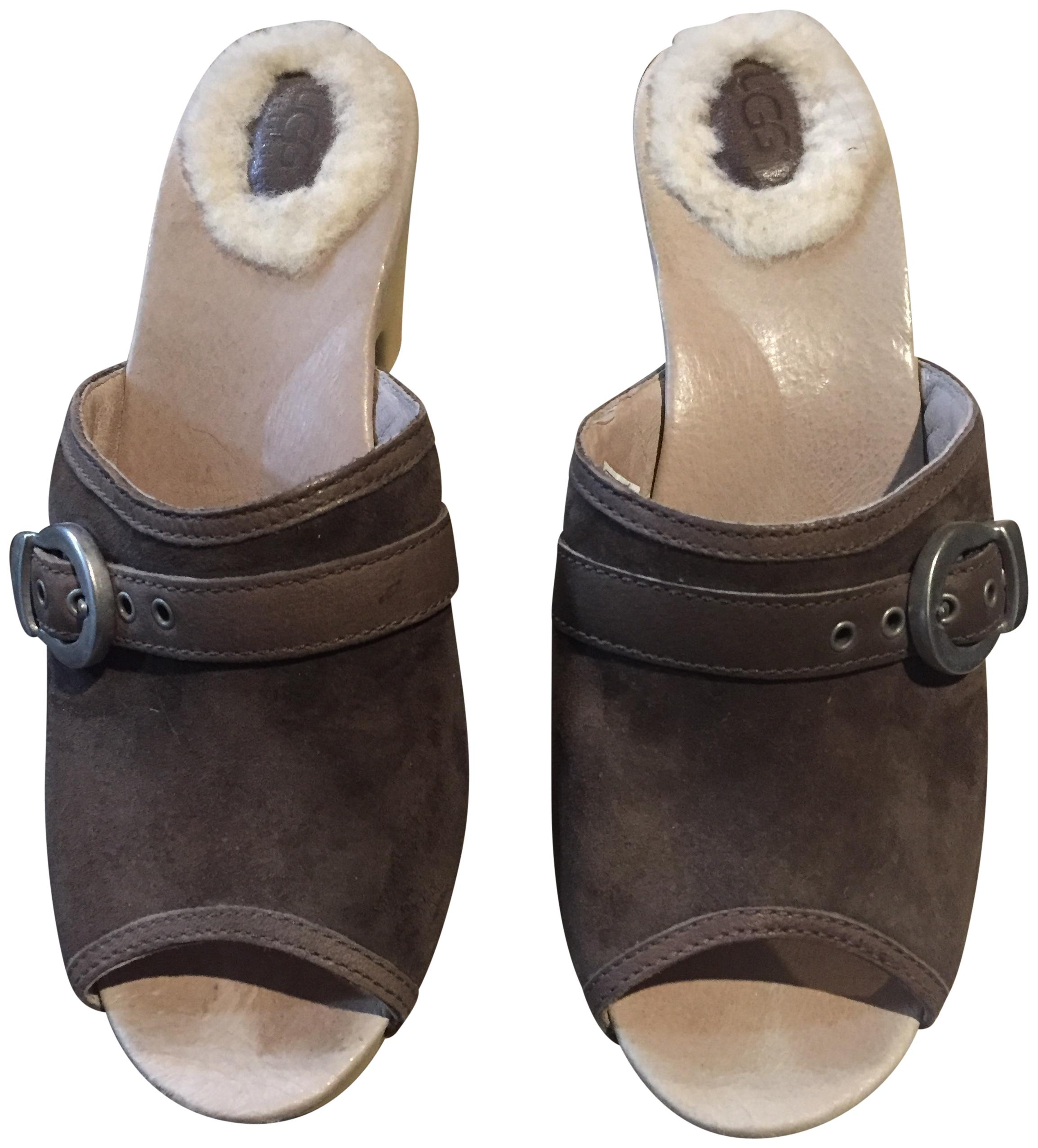 UGG Australia Suede Chestnut Like New Size 6 Chocolate Brown Mules ...