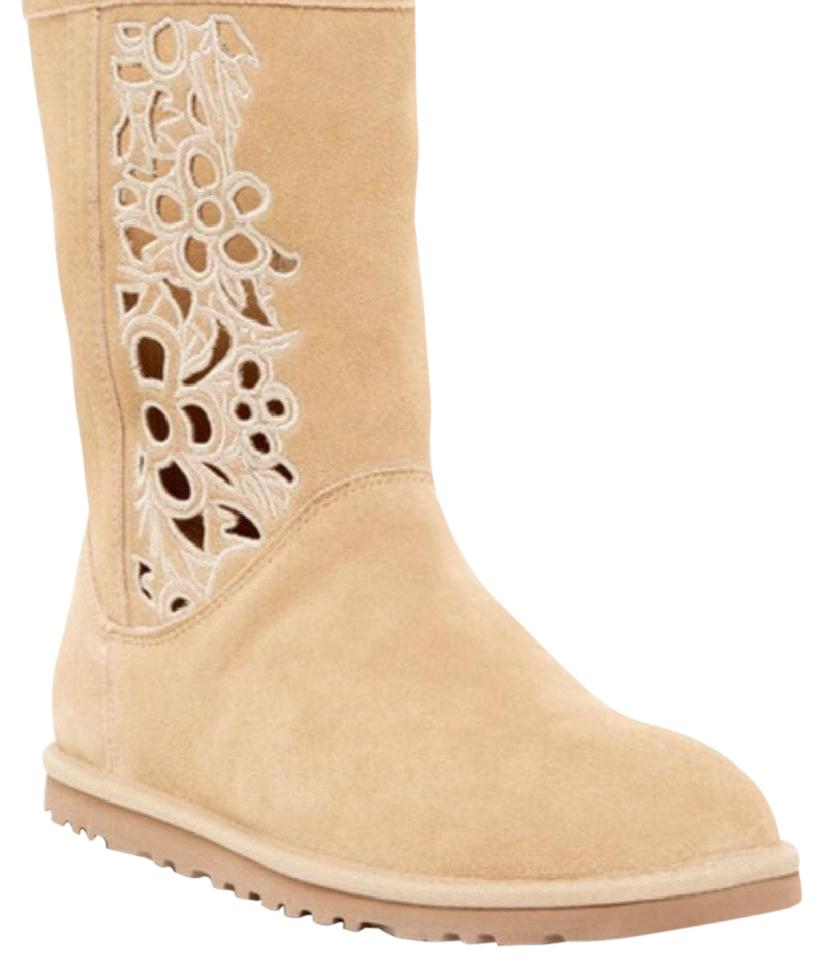 UGG Australia Cut-out Floral Sand Boots ...