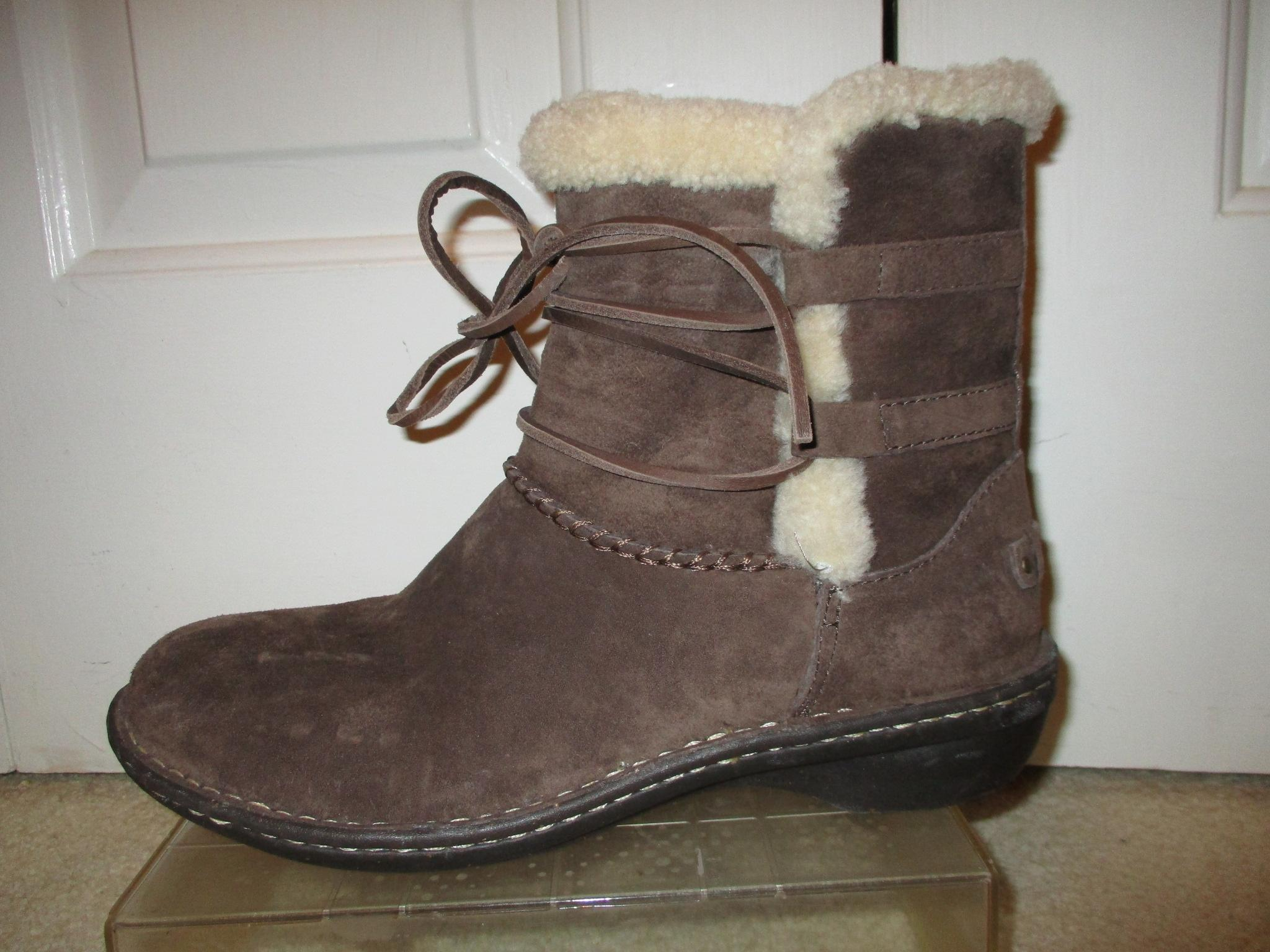 ugg australia rianne ankle brown boots boots booties
