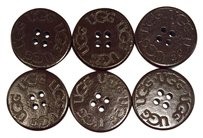 UGG Australia Six (6) UGG Replacement Buttons - Dark Brown for Boots