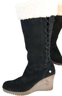 UGG Boots Suede Decorative Trim Black Boots