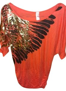 Umgee Meta Metallic Top Coral/Gold