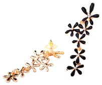 Unknown Long Crystal Flower Earrings