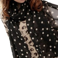 Unknown Polka Dot Chiffon Shawl 2