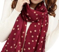 Unknown Polka Dot Chiffon Shawl