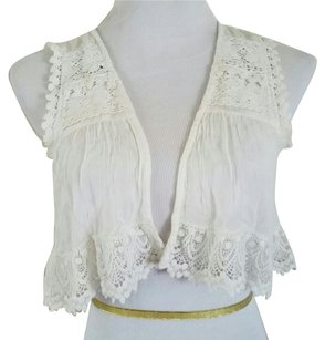 Urban Outfitters Vest Crop Isabel Marant Lace Top White