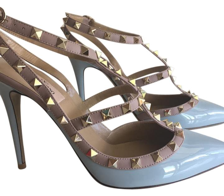 Valentino New 2016 Sold Out Rockstud Baby Blue Sky Blue
