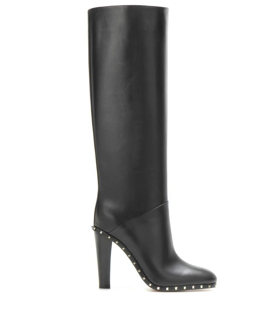 Valentino Black New Soul Rockstud Embellished 39 Leather Boots/Booties Size EU 39 Embellished (Approx. US 9) Regular (M, B) 24e876