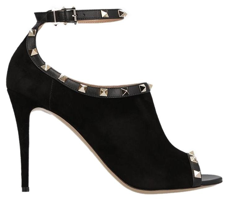 Valentino Black Rockstud Suede Sandals Size EU 38.5 (Approx. US 8.5) Regular (M, B)