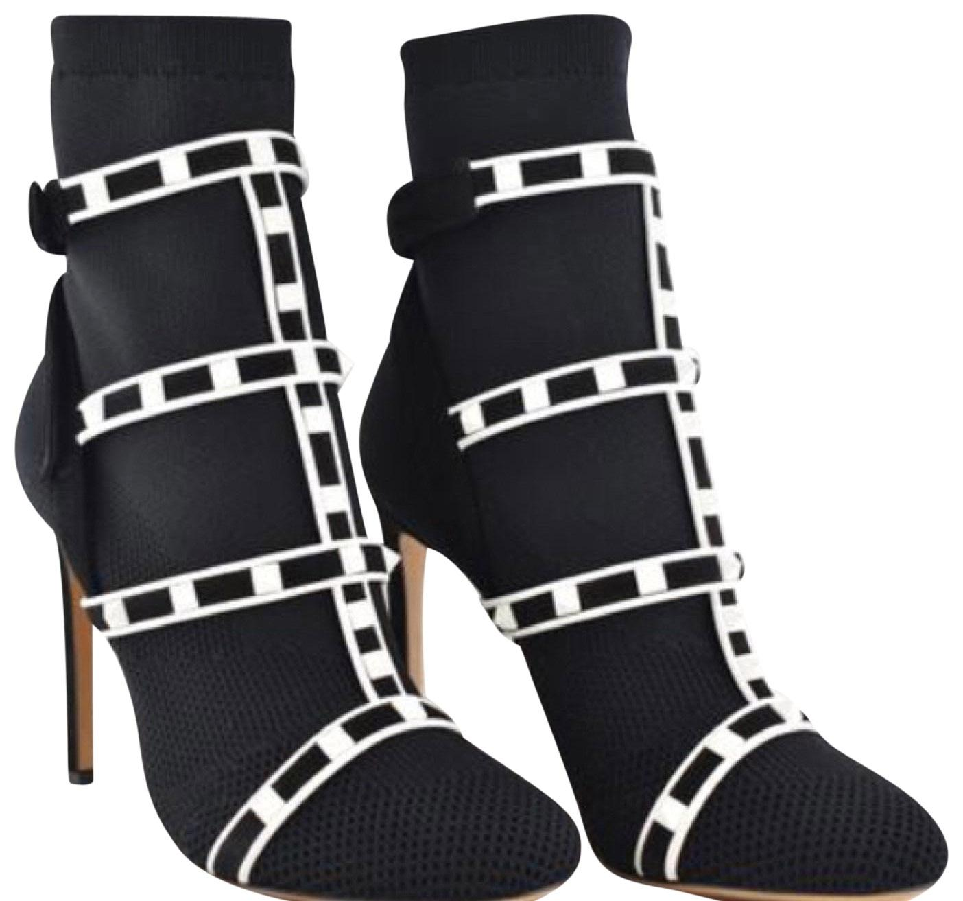 0f08733710fb Valentino Black White White White New Boots Booties Size EU 39.5 (Approx. US  9.5) Regular (M
