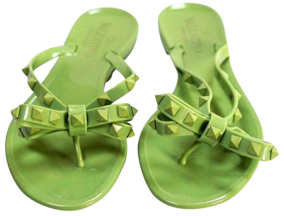 460d82e2e Valentino Green Rockstud Jelly Sandals Size EU EU EU 36 (Approx. US 6)  Regular (M