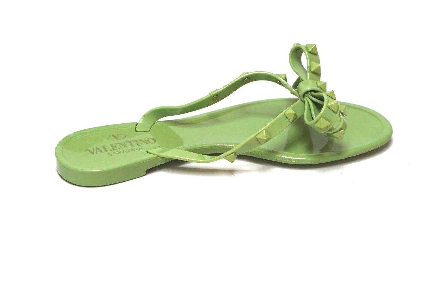 2b926037c84a US 6) Valentino Green Rockstud Jelly Jelly Jelly Sandals Size EU 36 (Approx.