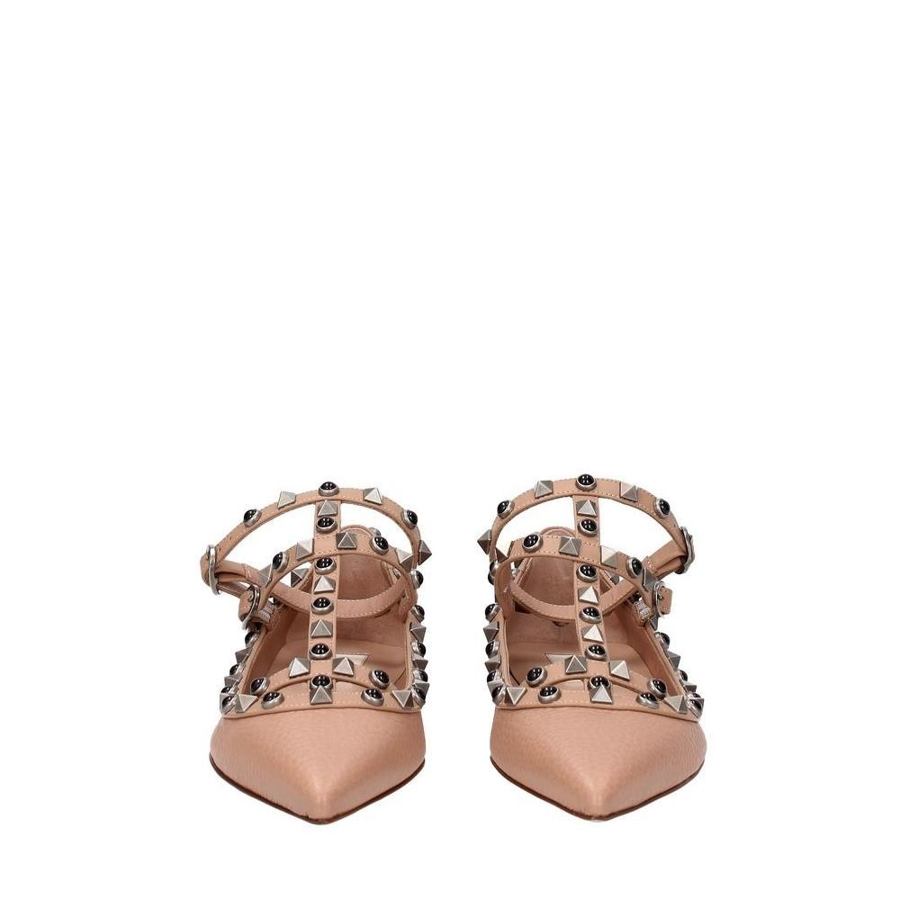 21051b39d US 5) Valentino Pink Garavani Leather Sandals Size Size Size EU 35 (Approx.