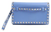 Valentino Rockstud Small Light Blue Clutch