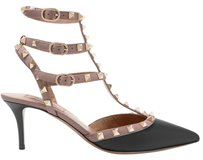 Valentino Rockstud Studded Ankle Strap The Rockstud Black Pumps
