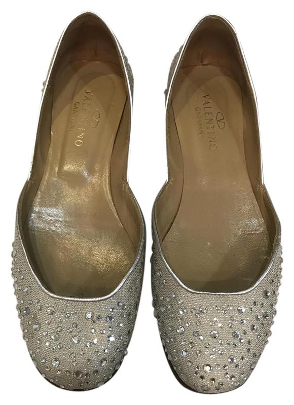Valentino Embellished Raffia Flats buy cheap recommend on hot sale outlet amazing price 2014 online r2pGJ