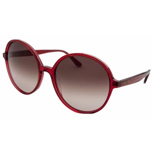 Valentino Valentino 729S-613-59 Women's Round Translucent Red Sunglasses