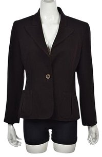 Valentino Valentino Womens Brown Blazer Wool Career Wtw Jacket Coat