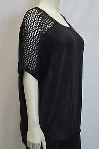 Velvet by Graham & Spencer Iridescent Open Weave Detail Boxy Fit 160985ms Sweater