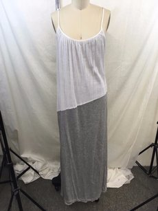 White/ Gray Maxi Dress by Velvet by Graham & Spencer White Tank Maxi