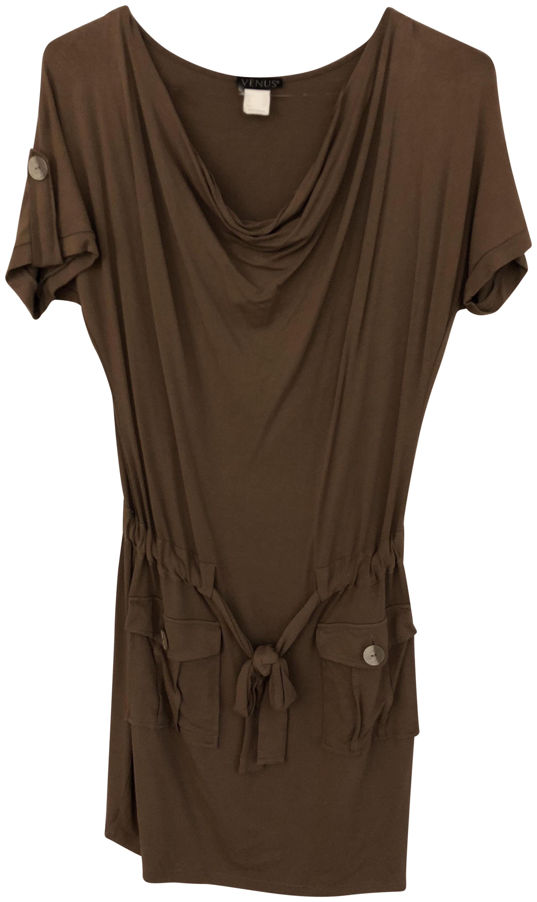 3b4606b1ac809 Venus brown mid length short casual dress size tradesy jpg 2187x3672 Venus  rompers