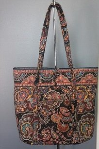 Vera Bradley Brown Quilted Tote in Multi-Color