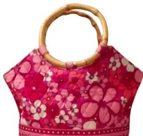 Vera Bradley Satchel in Pink and Red