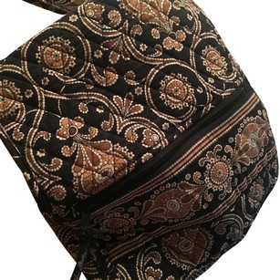 Vera Bradley Black/tan Messenger Bag