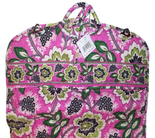Vera Bradley Rare Retired Priscilla Pink Green Cotton WeekendTravel