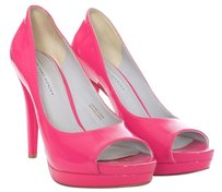 Vera Wang Lavender Label Patent Leather Open Toe Peep Pink Pumps