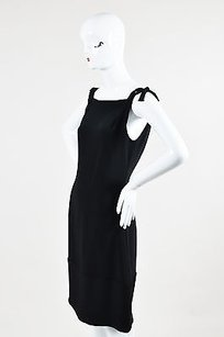 Vera Wang short dress Black Silk Shoulder on Tradesy