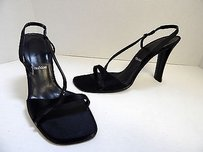 Vera Wang Strappy Black Pumps