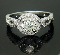Verragio Verragio 18k White Gold 1.30 Ct Tcw Brilliant Diamond Engagement Ring R45