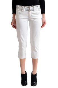 Versace Capri/Cropped Pants White