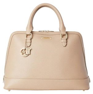 Versace Collection Luxury New Leather Satchel in Sand