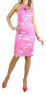 Versace short dress pink white on Tradesy