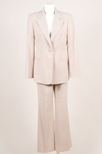 Versace Gianni Versace Taupe Wool Boot Leg Pant Suit