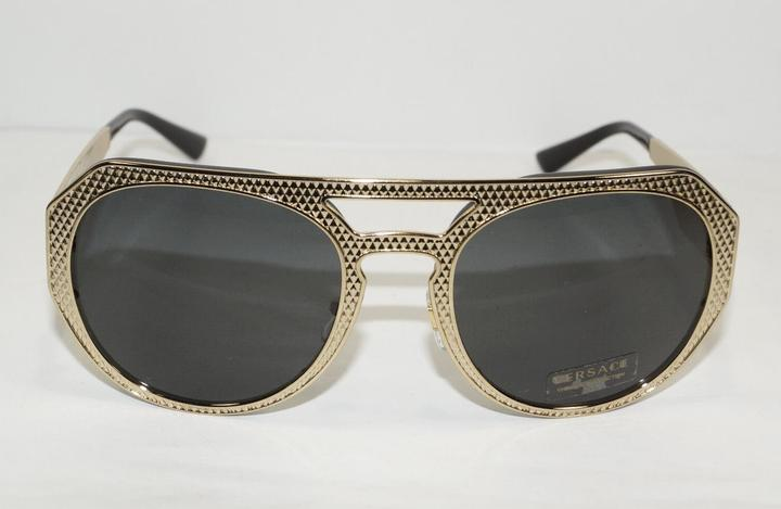ad2be0b61f6 Versace Black Medusa Aviator Replica