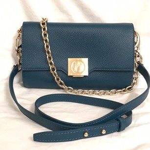 Versace Leather Clutch Wristlet Cross Body Bag