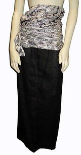 Versace Gianni Silver Maxi Skirt Black