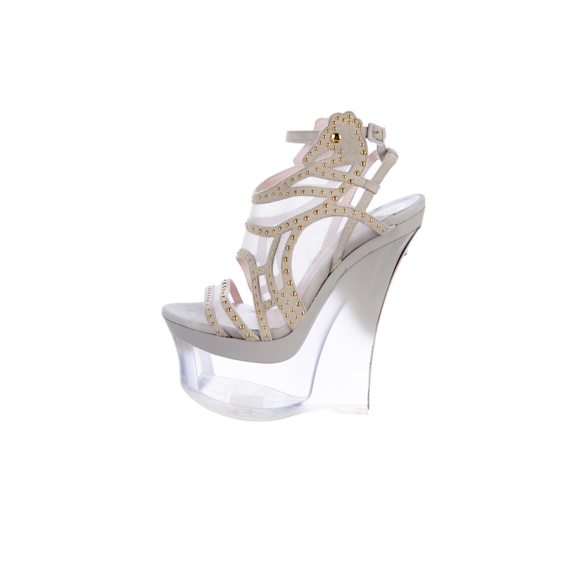 5608e2d501c9 Versace Perspex Sandals Wedges Wedges Wedges Size EU 40 (Approx. US 10)  Regular (M