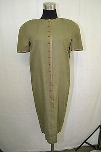 Versace short dress Olive Gianni Vintage Green Button Up Shirt on Tradesy