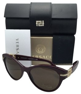 Versace VERSACE Sunglasses Bordeaux Frame w/ Brown Lenses